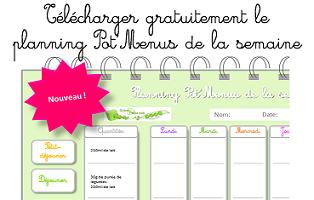 Document pour planifier les menus