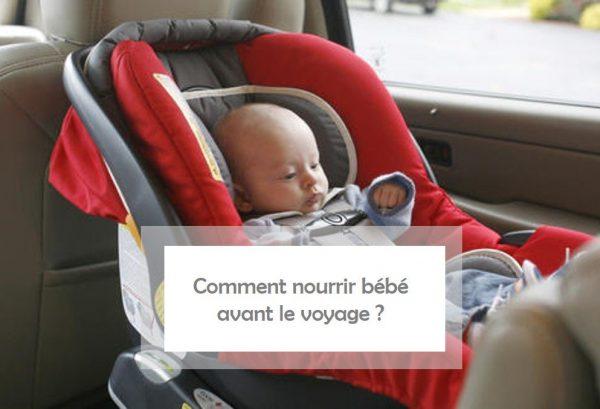Nourrir bébé avant le voyage en transport