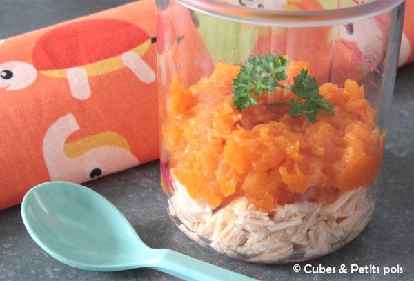parmentier citrouille patate douce au paprika et saumon au. Black Bedroom Furniture Sets. Home Design Ideas