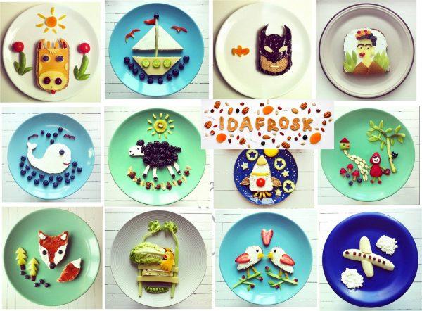 Idées déco d'assiettes pour tout-petits Idafrosk