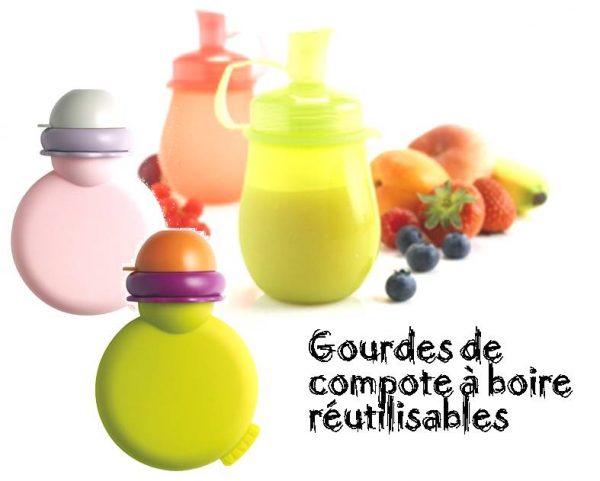 Gourdes réutilisables pour compotes à boire de bébé
