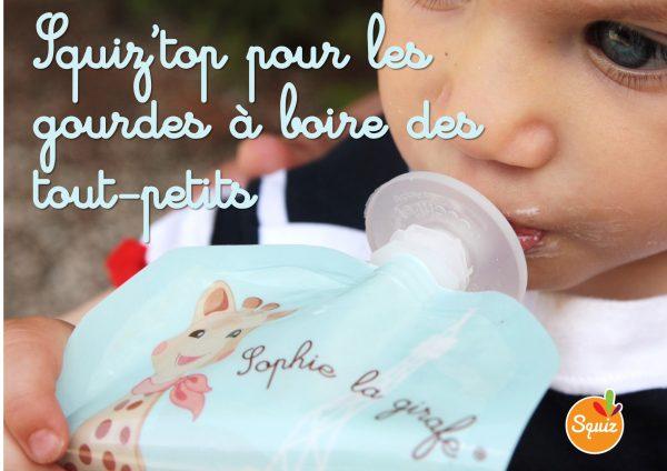 Squiz'top pour les gourdes à boire réutilisables des bébés