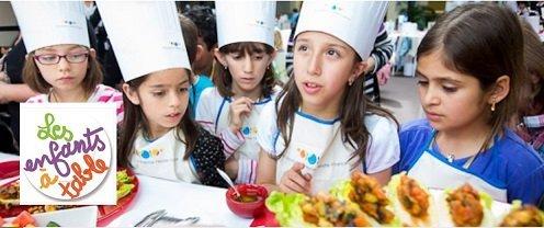 Les enfants à table et la Fondation Nestlé