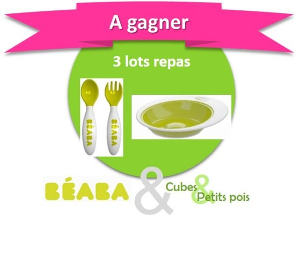 Beaba offre 3 assiettes et lots de couverts - Anniversaire Cubes et Petits pois {Cadeau 7}