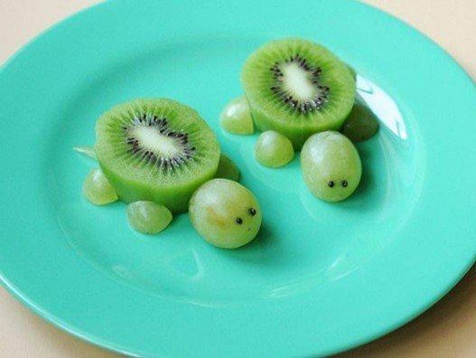DIY décoration tortue avec des fruits