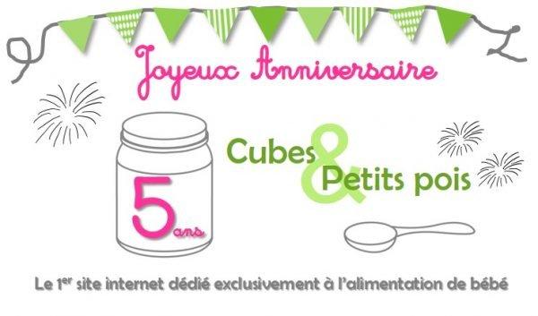 Anniversaire webmedia alimentation bébé Cubes et Petits pois