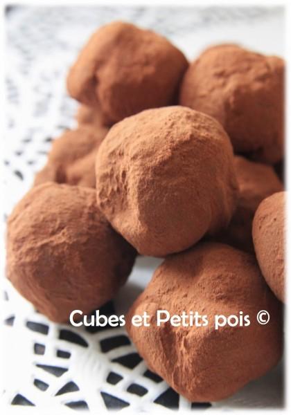 Truffes Au Chocolat Sans Oeuf Maison Cubes Petits Pois