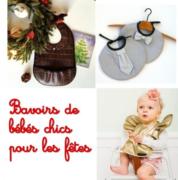 Bavoirs de bébé chics pour Noël