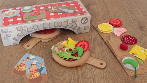 Pizzeria Haba Pizzas en tissus dinette et jeu