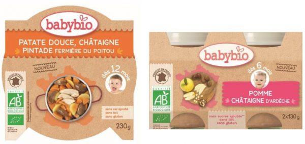 Petits pots à la châtaigne pour bébé Innovation Babybio