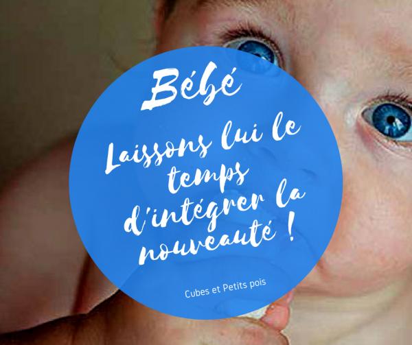 Intégration du goût, laissez le temps à bébé