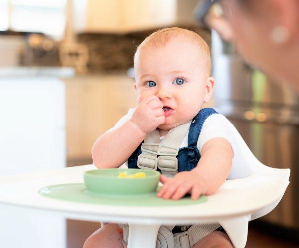 Développement de la mastication de bébé lors de la DME